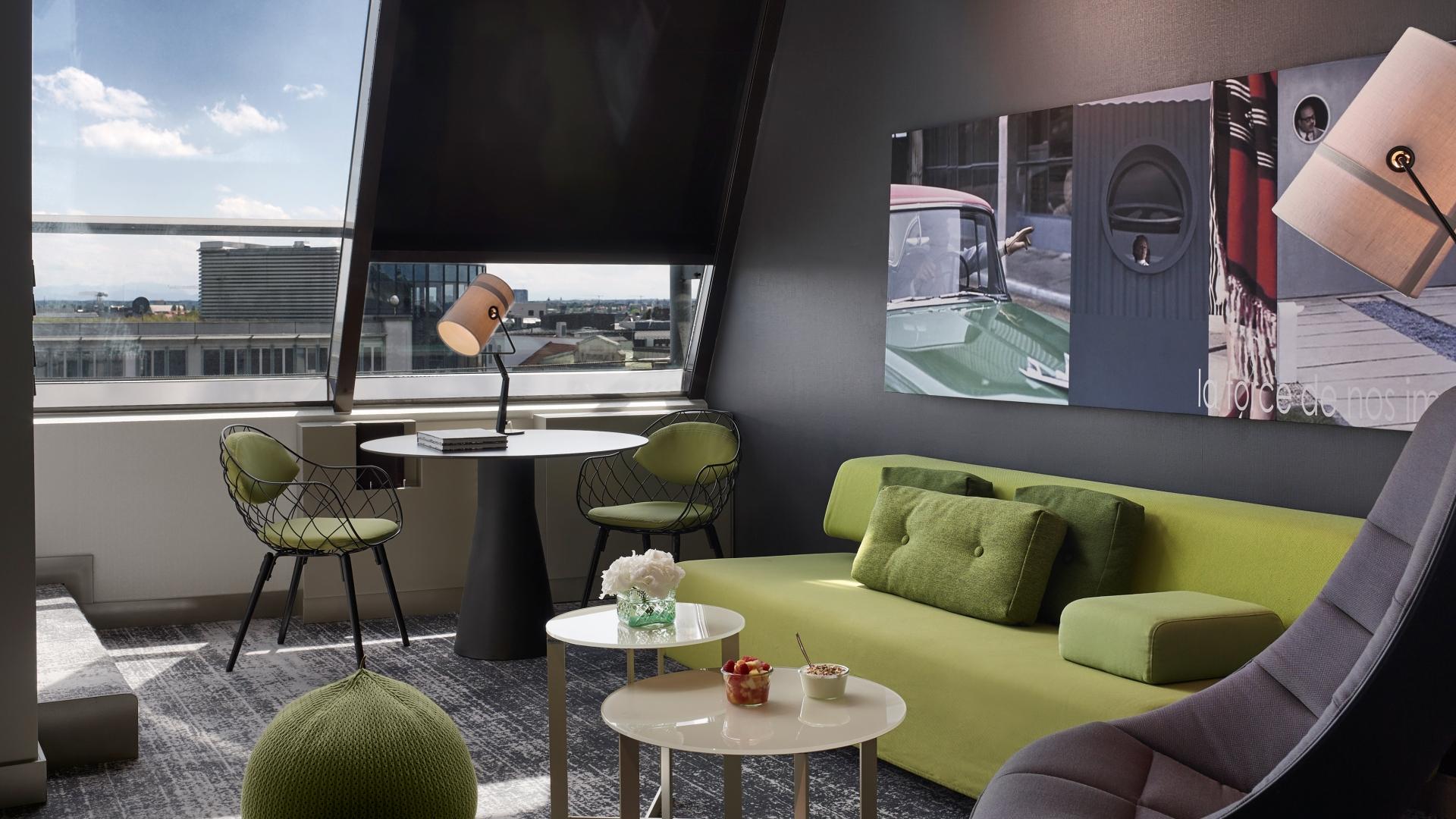 duplex junior suite sofitel munich bayerpost 5 sterne hotel. Black Bedroom Furniture Sets. Home Design Ideas